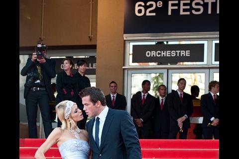 Actress Paris Hilton and actor Doug Reinhardt